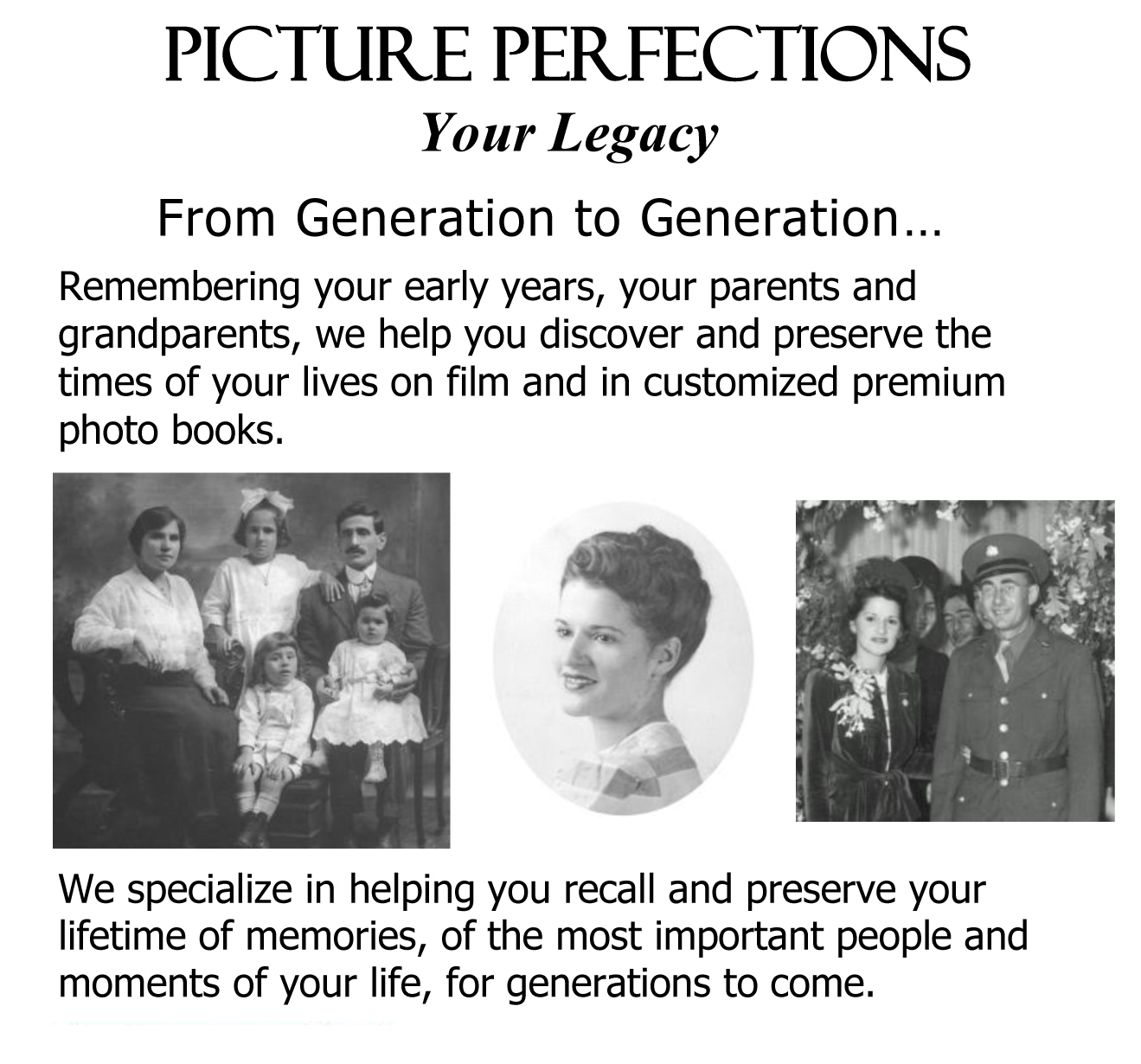 Family Videos  Production & Editing, Slideshows, Photo Books